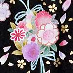 八重桜/着物文様